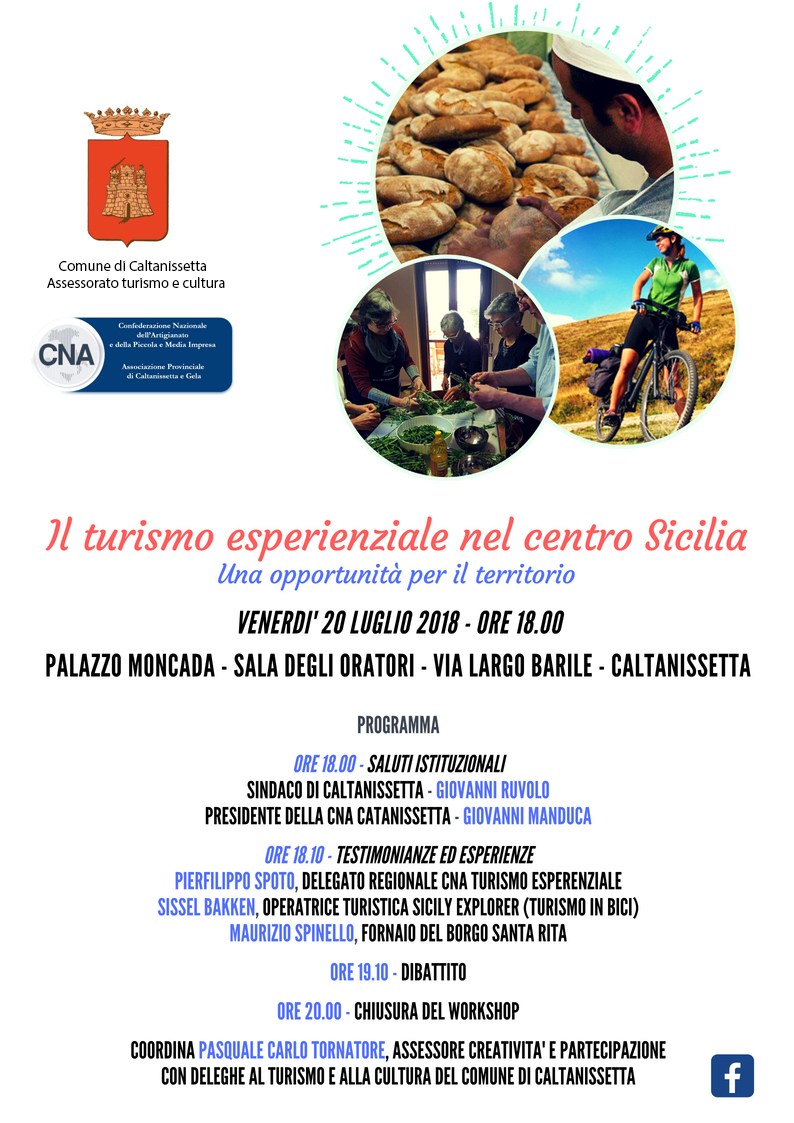 CNA E UNE DI CALTANISSETTA Il Turismo Esperenziale Workshop