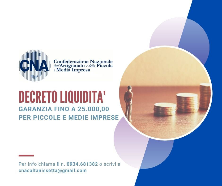 Decreto Liquidità istanze sino a 25000 euro